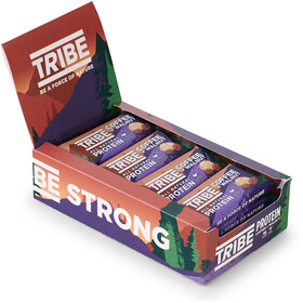 TRIBE Vegan Protein Bar Box 16x50g, coffee/walnut